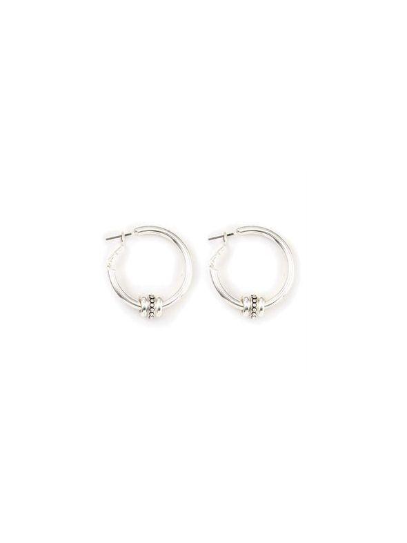 Ella Hoop Silver Earrings