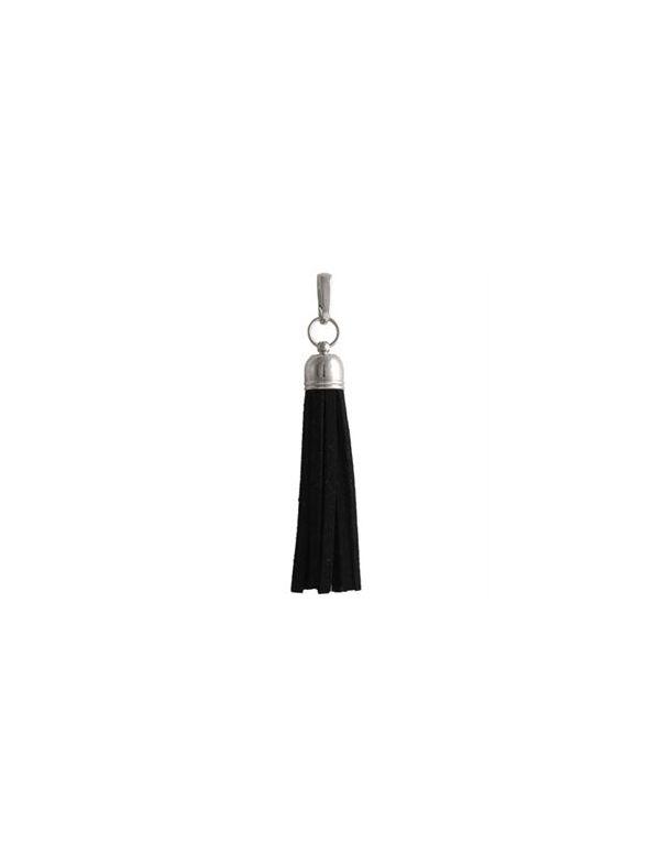 Black Leather Tassel