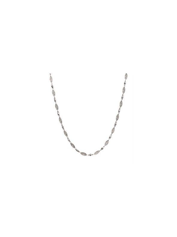 Nickel-Free Silver Natalie Chain: 16-19""