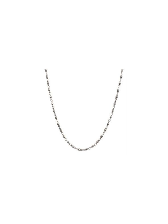 Nickel-Free Silver Multifaceted Link Chain - 28""