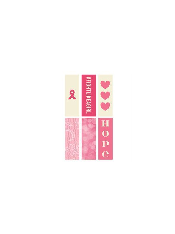 Breast Cancer Awareness Rectangle Locket Backdrops