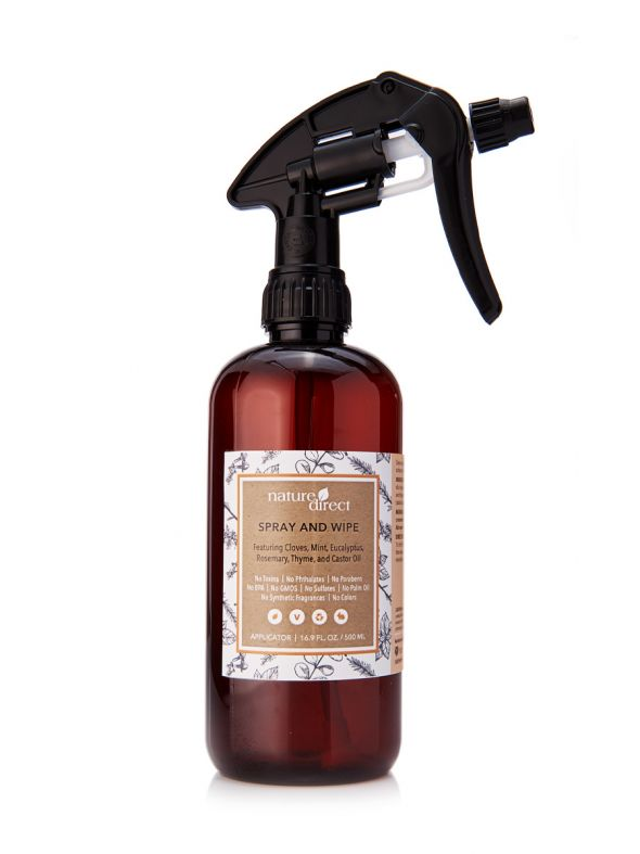Nature Direct Spray and Wipe Applicator Bottle Only - 500ml