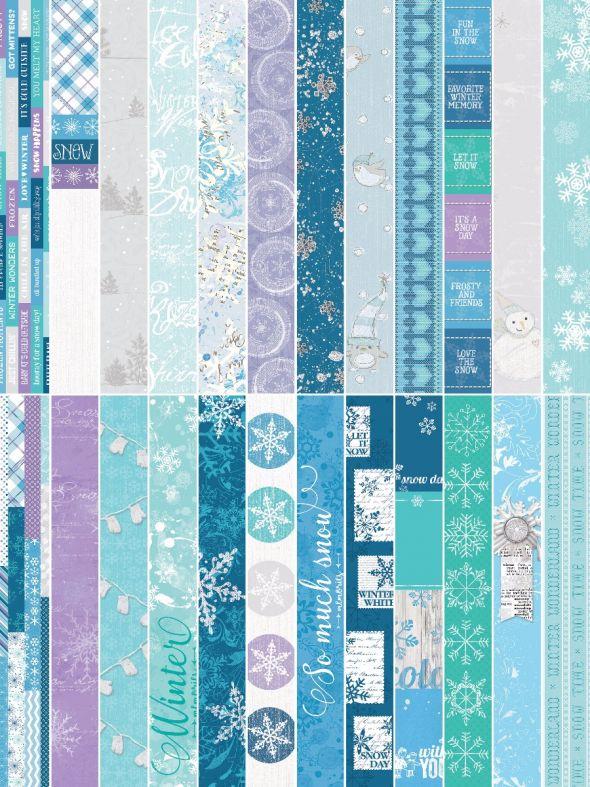 "Winter Wonders by Katie Pertiet 2"" Border Strips"